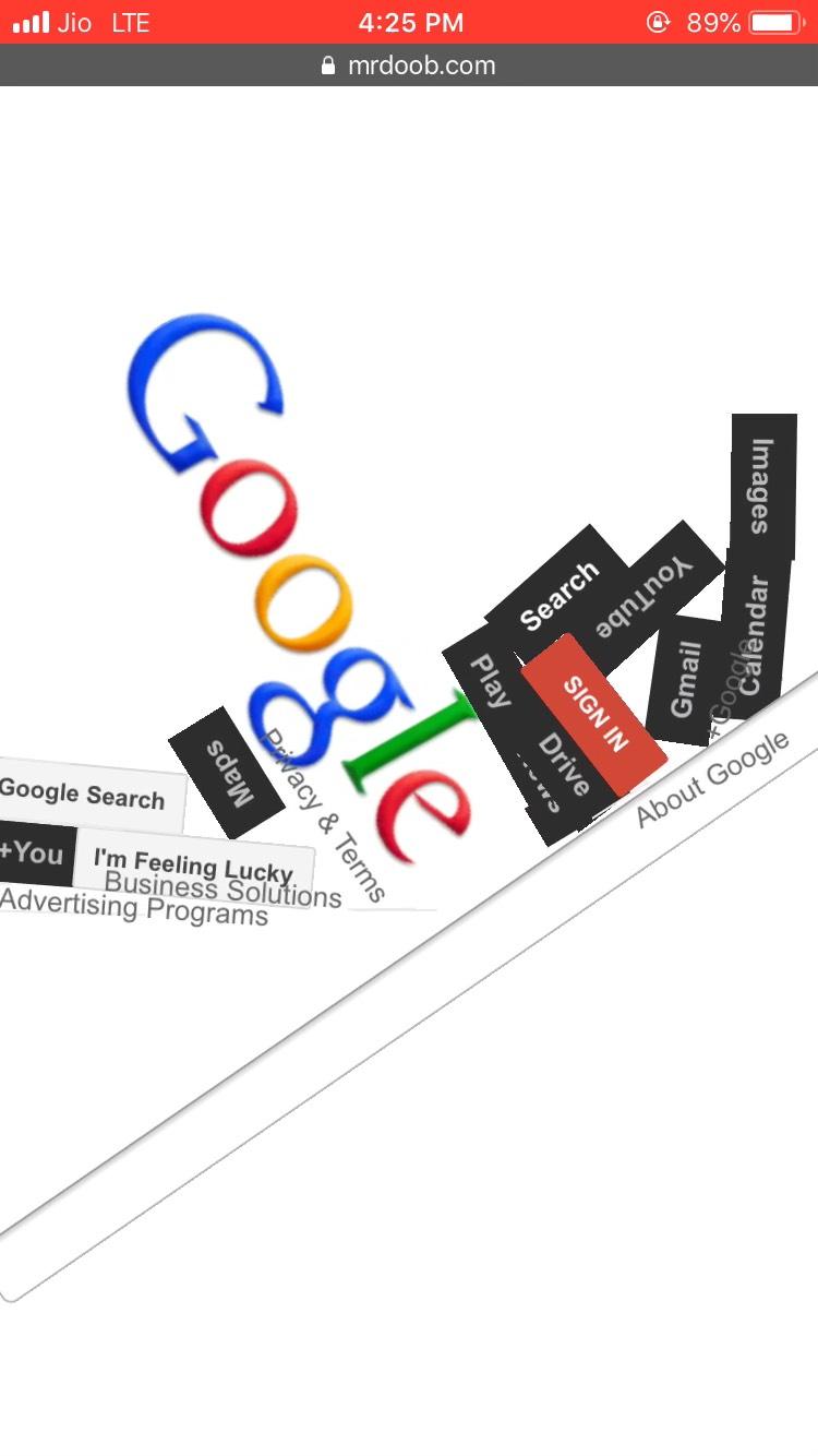 Google Gravity for Mobile