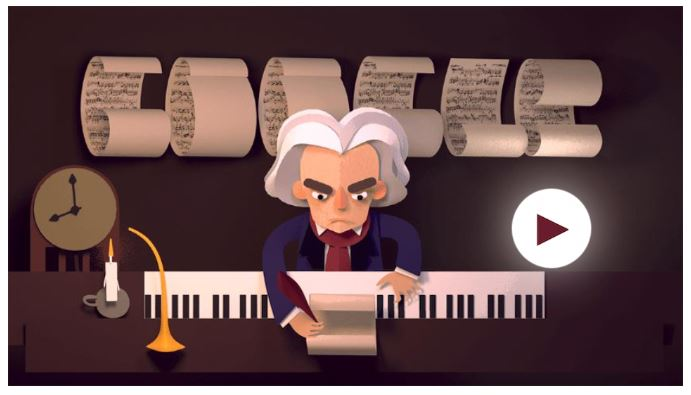 Beethoven game google doodle game