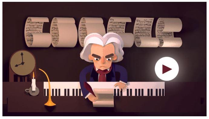 Beethoven game google doodle game