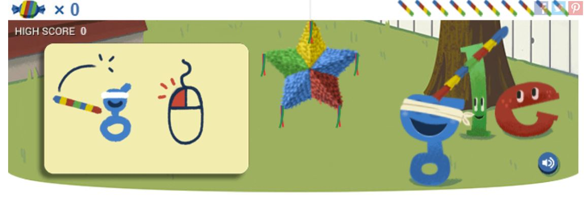 Google 15th birthday doodle game