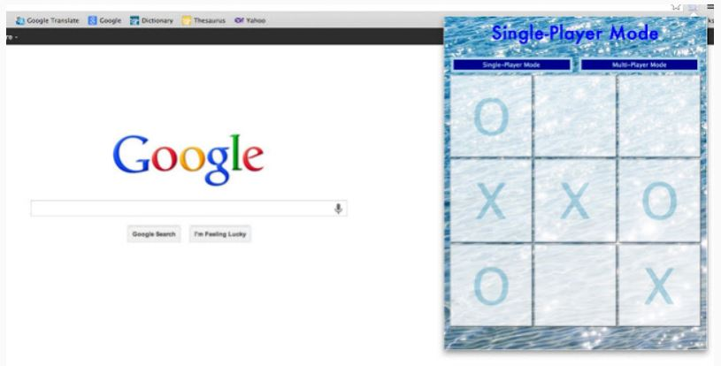 Google Tic Tac Toe Game