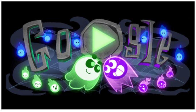 Halloween games google doodle game