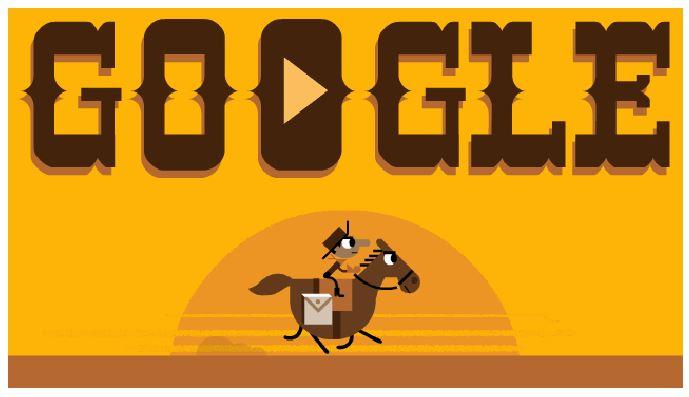 Pony express game google doodle