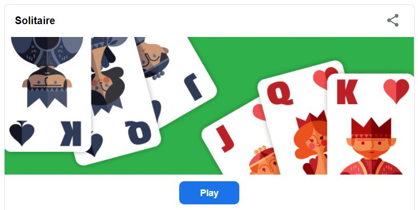 Solitaire google doodle game