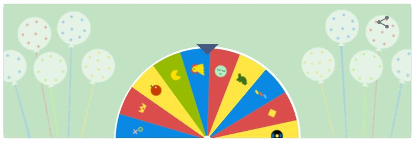 google birthday surprise spinner