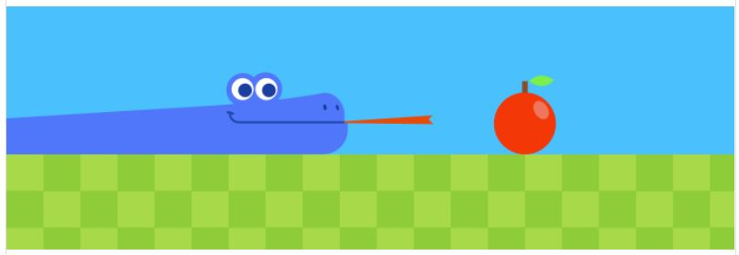 snake game by google doodle