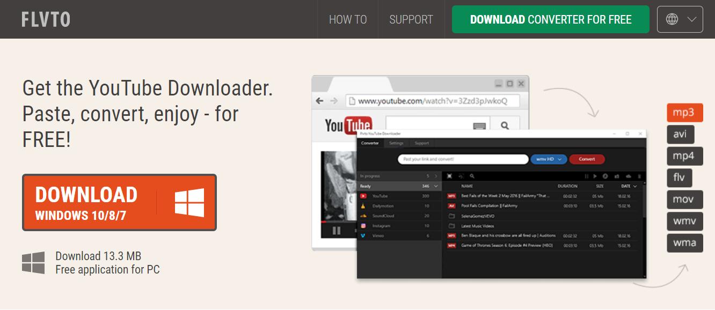 FLVTO software - Youtube to mp3 converter