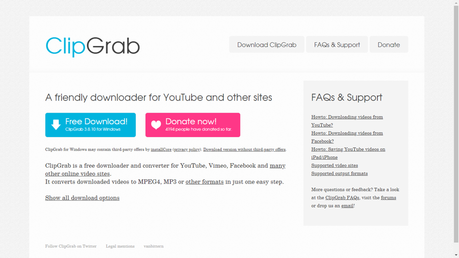 clipgrab - youtube to mp3
