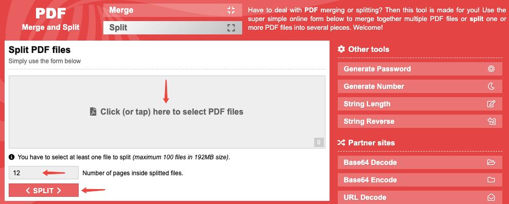 spliting pdf files