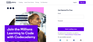 codecademy - online learning tool