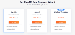 EaseUS Pricing Model