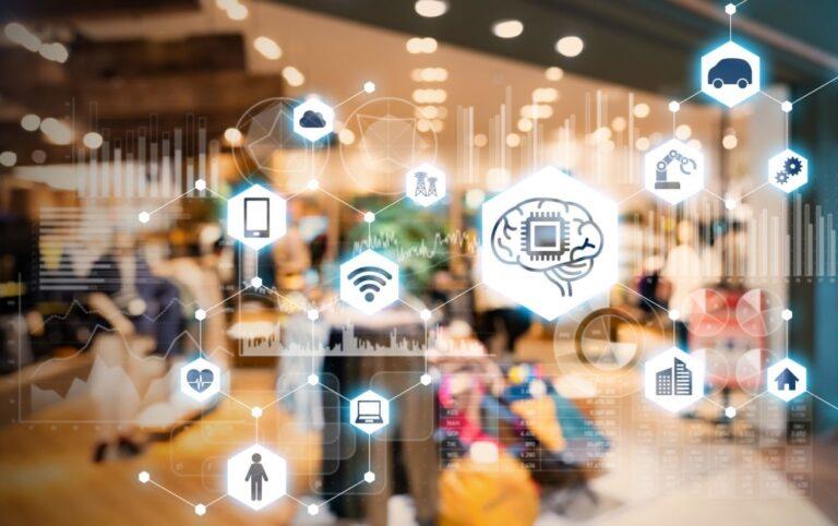 Shop and AI. e-commerce concept.